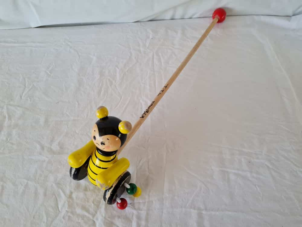 Wooden push along Bee