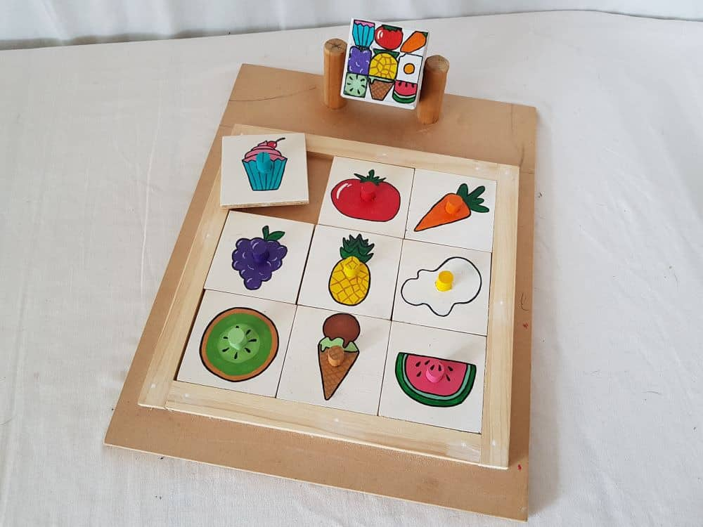 Cube matching puzzle - Fruits
