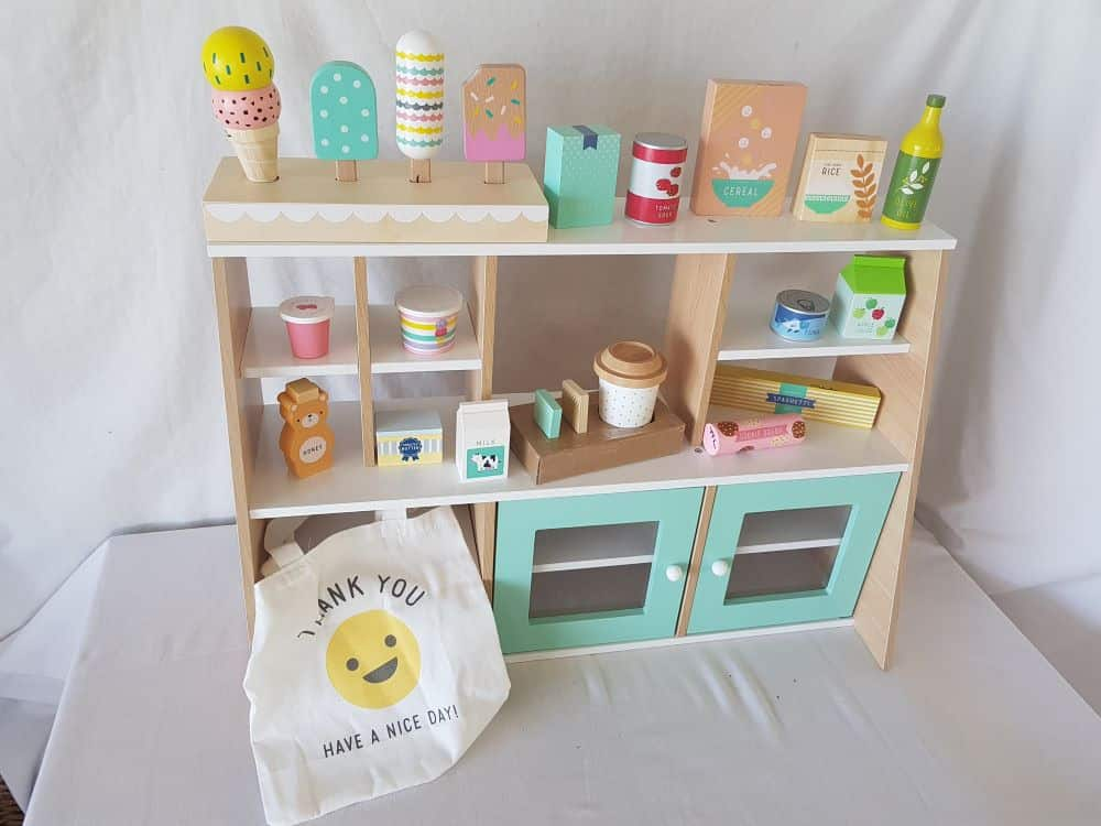 Wooden Shopping Stand photo